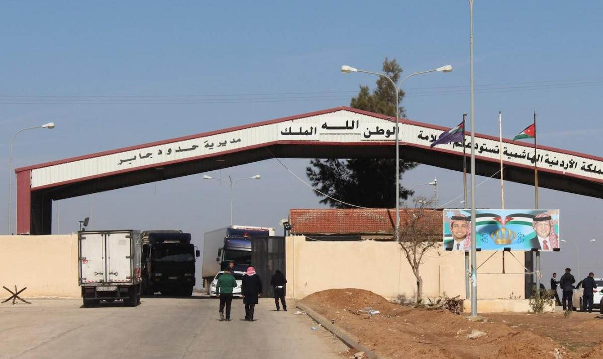 The Jaber-Nasib crossing point between Jordan and Syria. Nine workers there have tested positive for Covid-19