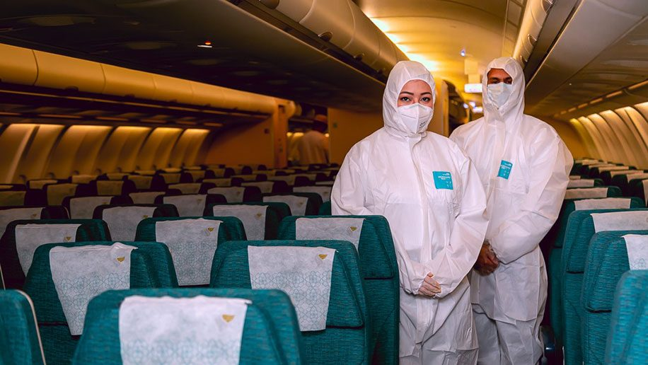 Welcome aboard Oman Air: cabin crew show off their new protective uniforms